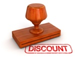 Receive discounted price